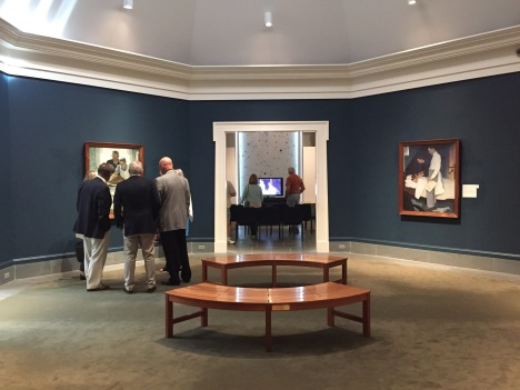 """Gallery with Rockwell's """"Four Freedoms"""""""