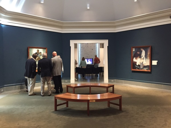 "Gallery with Rockwell's ""Four Freedoms"""