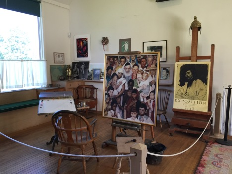 Interior of Rockwell's studio