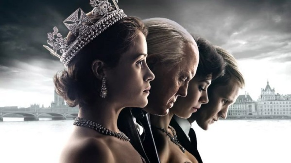 Claire Foy as Queen Elizabeth II; John Lithgow as Winston Churchill; Vanessa Kirby as Princess Margaret; Matt Smith as Prince Philip