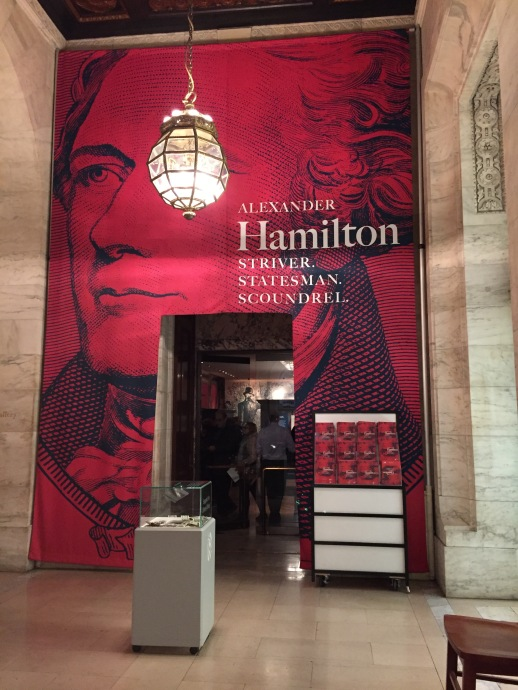 Hamilton exhibit is on view at New York Public Library until Dec. 31, 2016