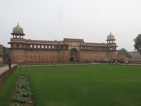 Jahangir's Palace inside Agra Fort.