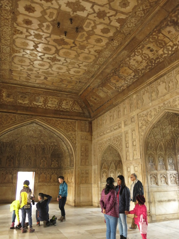 Women's palace. Textiles and carpets would have been hung in front of openings.