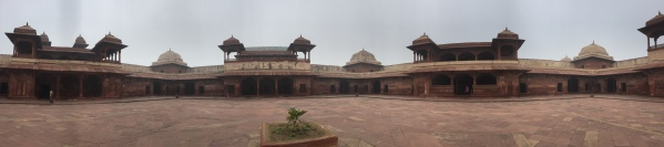 A panoramic shot in one of the interior courtyards.