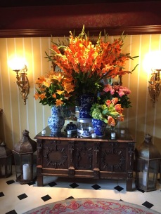 Floral display at the Inn at Little Washington.